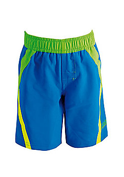 Zoggs Boy's 'New Wave' Panel Shorts - Blue - 2 years