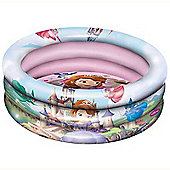 Sofia the First Inflatable Three Ring Paddling and Ball Pool