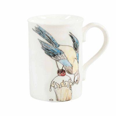 Mellor Ware Bird Eating Cake Design Mug