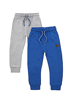 F&F 2 Pack of Drawstring Joggers - Blue & Grey