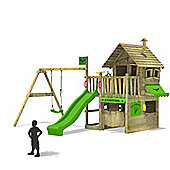 Fatmoose CountryCow Maxi XXL Treehouse With Swing And Apple Green Slide