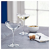 Fox & Ivy Crystal Glass Set of 4 Champagne Coupes