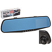 Rear-View Mirror Dash Cam With G-Sensor
