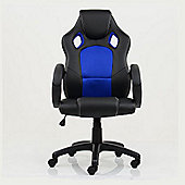 Astro Racing Style Gaming Office Chair Black with Blue