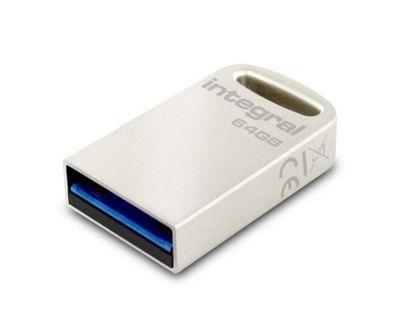 Integral 64GB Fusion USB 3.0 Flash Drive - Silver