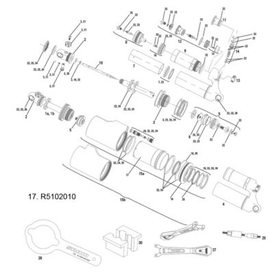 RockShox Sleeve Kit (Air Can) Vivid Air 2011-14 200x51/200x57mm B1