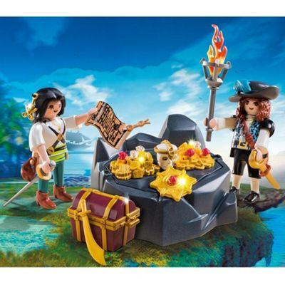 Playmobil 6683 Pirates Treasure Hideout Playset with 2 Pirates