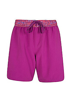 Mountain Warehouse Womens Beach Shorts Soft and Durable with Adjustable Waist - Pink