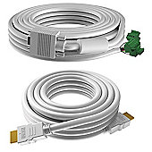 Vision TC3-PK10MCABLES 10m VGA (D-Sub) White cable