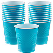 Turquoise Cups - 473ml Plastic Party Cups - 20 Pack