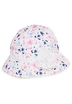 F&F Butterfly Print Bucket Hat - White & Multi