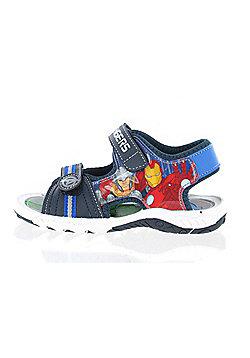 Marvel Avengers Blue Sports Foston Sandals Boys Kids Summer Hook and Loop Various Sizes - Blue