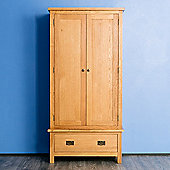 Surrey Oak Double Wardrobe - Rustic Oak