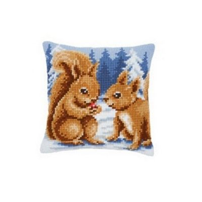 Vervaco Squirrels Cross Stitch Cushion
