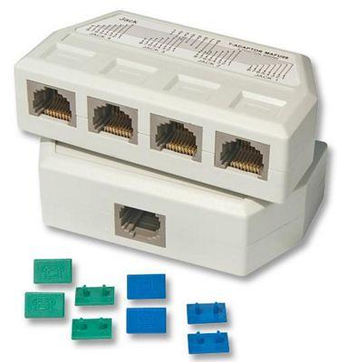 Lindy UTP/RJ45 4 Port Y Adapter White