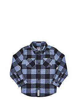 F&F Checked Brushed Cotton Shirt - Blue