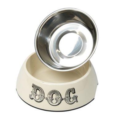 Cream Dog Bowl - Medium