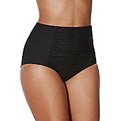 F&F Shaping Swimwear High Waisted Bikini Briefs - Black