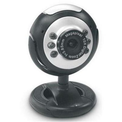 Dynamode M-1100M webcam 2MP USB 6 LED's microphone Plug and Play Snapshot