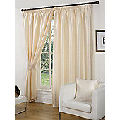Faux Silk Eyelet Curtains, Cream 117x183cm