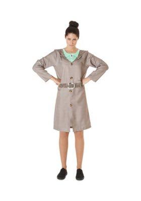 Roald Dahl Miss Trunchball Adult Fancy Dress Costume Grey M