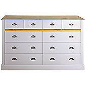 Steens Sandringham 4+6 Drawer Chest Oak/Grey