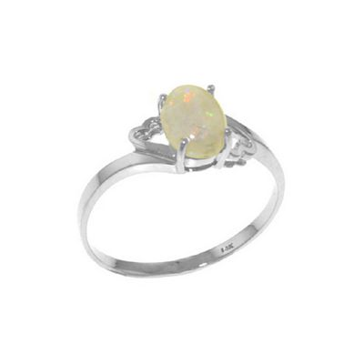 QP Jewellers 0.45ct Opal Classic Desire Ring in 14K White Gold - Size A