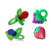 Bebelephant - Raz-berry Teether Bundle - Raz Berry Blue And Red Raz Fresa And Raz Grapes 4 Items Supplied