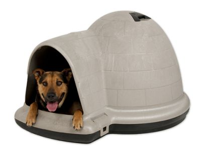 Petmate Indigo Dog Kennel with Microban in Taupe and Black - Large (111cm L x 86cm W x 66cm H)