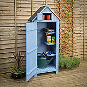 Christow Small Garden Sentry Shed With Lockable Door - Blue