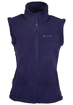 Mountain Warehouse Womens Gilet Microfleece Design and Supersoft Fluffy Fleece - Navy