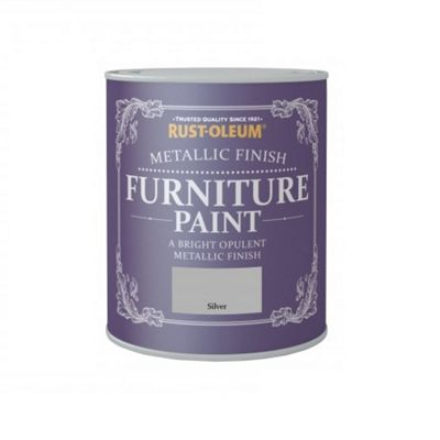 Rust-Oleum Metallic Furniture Paint - Silver - 125ML