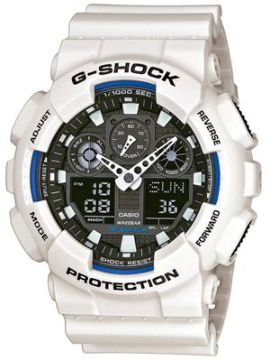 Casio G-Shock Mens Resin Alarm, Stopwatch Watch GA-100B-7AER