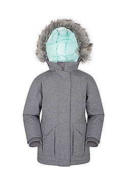 Zakti Kids Freeze Over Down Long Jacket - Grey