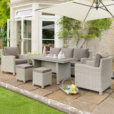 37d46b11f7cf Buy Kettler - Palma Whitewash Sofa Dining Set from our Rattan Garden ...