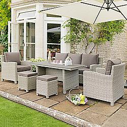 Kettler   Palma Whitewash Sofa Dining Set