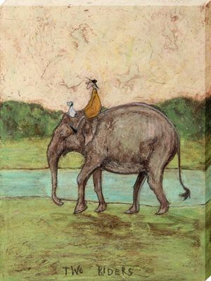 Sam Toft Two Riders Large Canvas Print 60x80cm