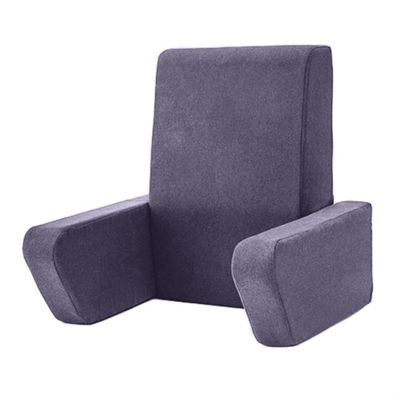 Soft Wool Effect 'Una' Foam Reading Back Rest Cushion - Sapphire