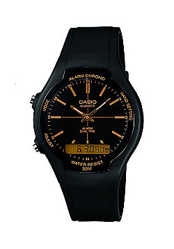 Casio Collection Unisex Black Stopwatch Watch AW-90H-9EVEF