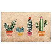 Puckator Cactus Door Mat 36 x 76cm