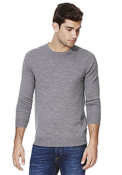 Jack & Jones Premium Merino Wool Jumper - Grey marl