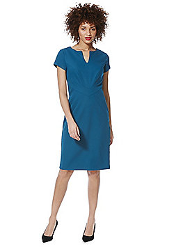 Roman Originals Notch Neck Pencil Dress - Teal