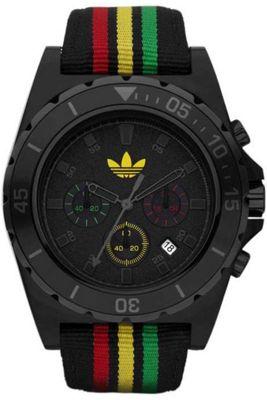 Adidas Unisex Chronograph Black Material Strap Watch ADH2668
