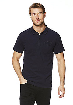 F&F Tipped Collar Polo Shirt - Navy
