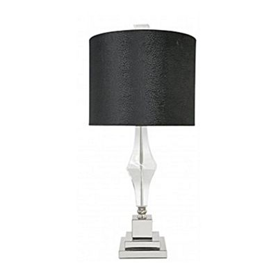 Sandringham Cut Glass Table Lamp With Black Snakeskin Shade