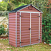 Palram Skylight Amber Plastic Shed, 6x3ft