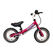 "Tiger Wheelie Kids Toddler Balance Bike Pink 12"" Wheel"