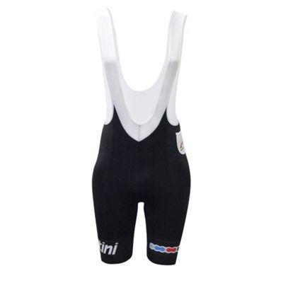 RE 1075 GIA 3UCI - Santini UCI Fashion Gel Intech Anatomic Pad Bib Short Black Large