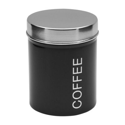 Harbour Housewares Metal Coffee Canister - Black