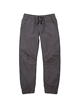 F&F Drawstring Waist Ripstop Trousers - Grey